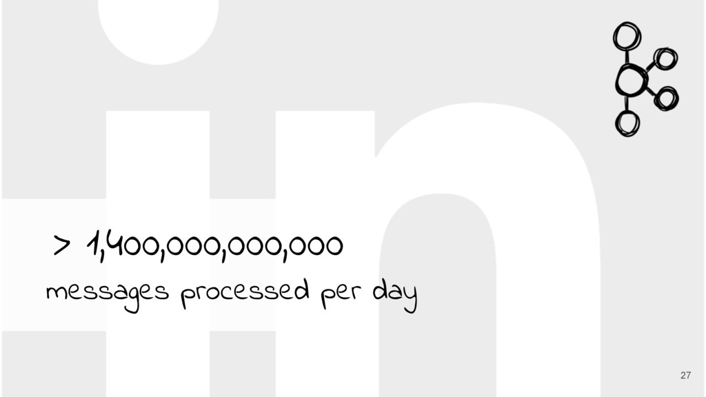 27 > 1,400,000,000,000 messages processed per d...