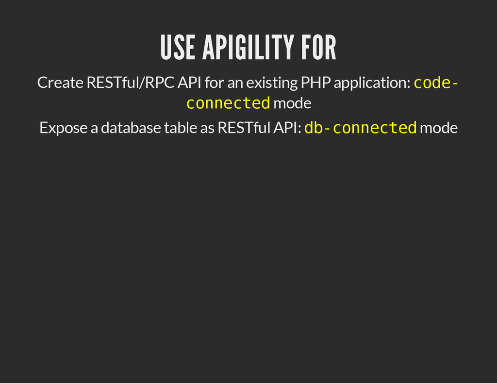USE APIGILITY FOR Create RESTful/RPC API for an...