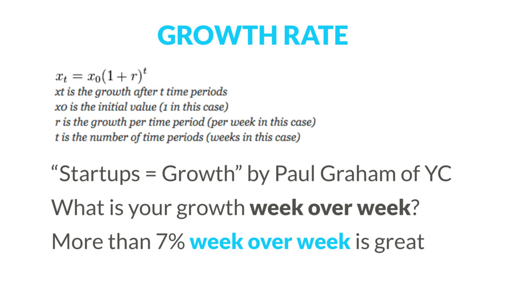 """GROWTH RATE """"Startups = Growth"""" by Paul Graham ..."""