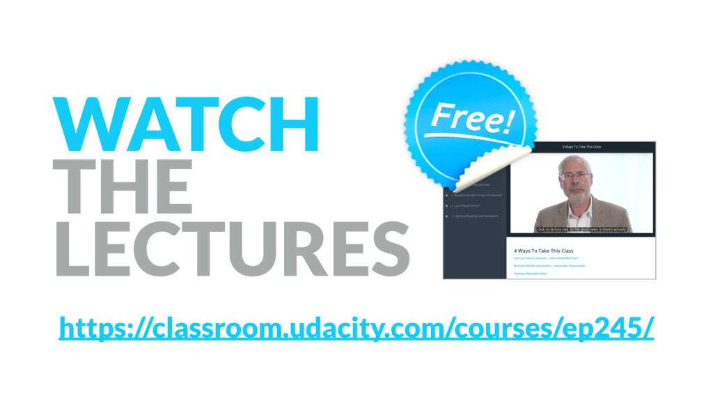 https://classroom.udacity.com/courses/ep245/ WA...