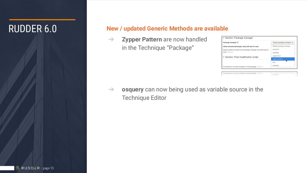 RUDDER 6.0 New / updated Generic Methods are av...