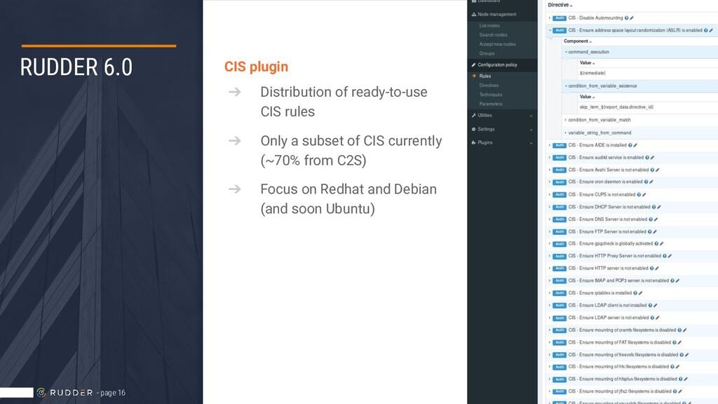 RUDDER 6.0 CIS plugin ➔ Distribution of ready-t...