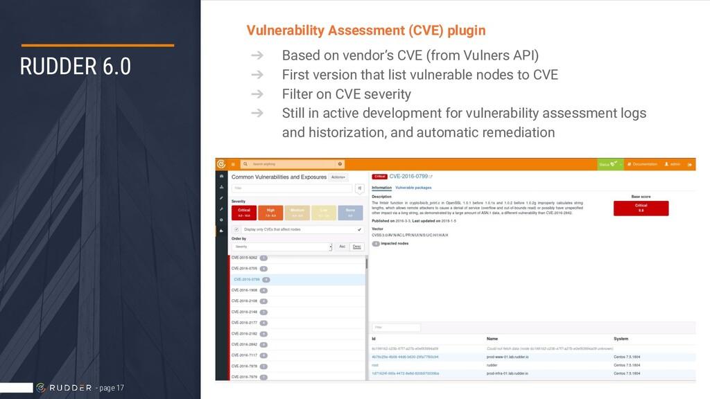 RUDDER 6.0 Vulnerability Assessment (CVE) plugi...