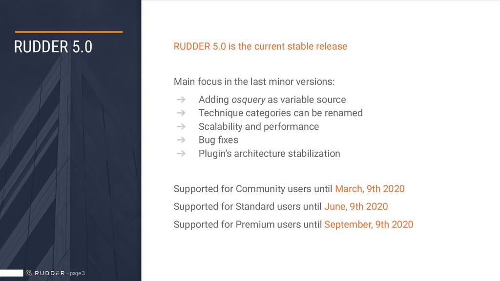 RUDDER 5.0 RUDDER 5.0 is the current stable rel...