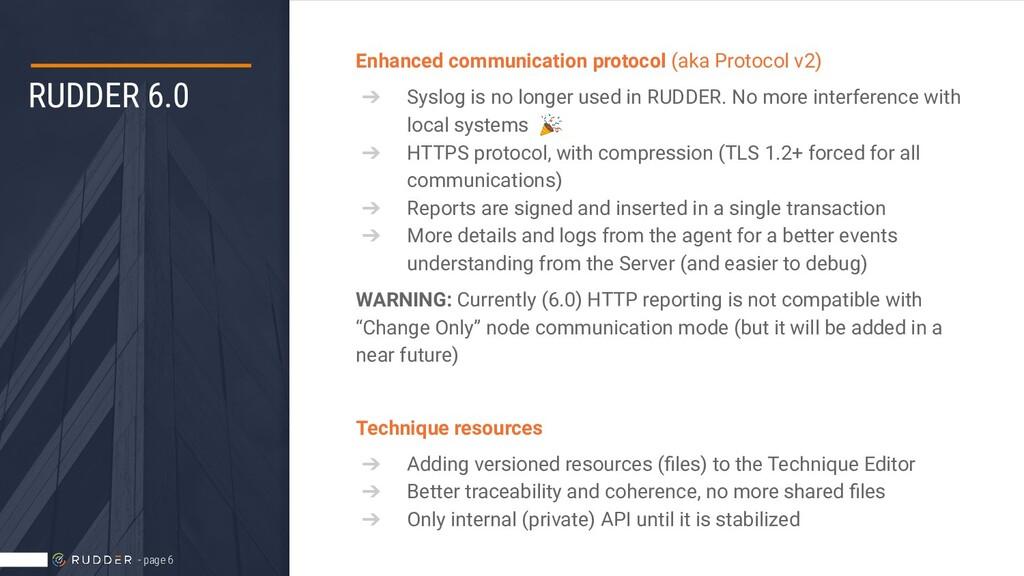 RUDDER 6.0 Enhanced communication protocol (aka...