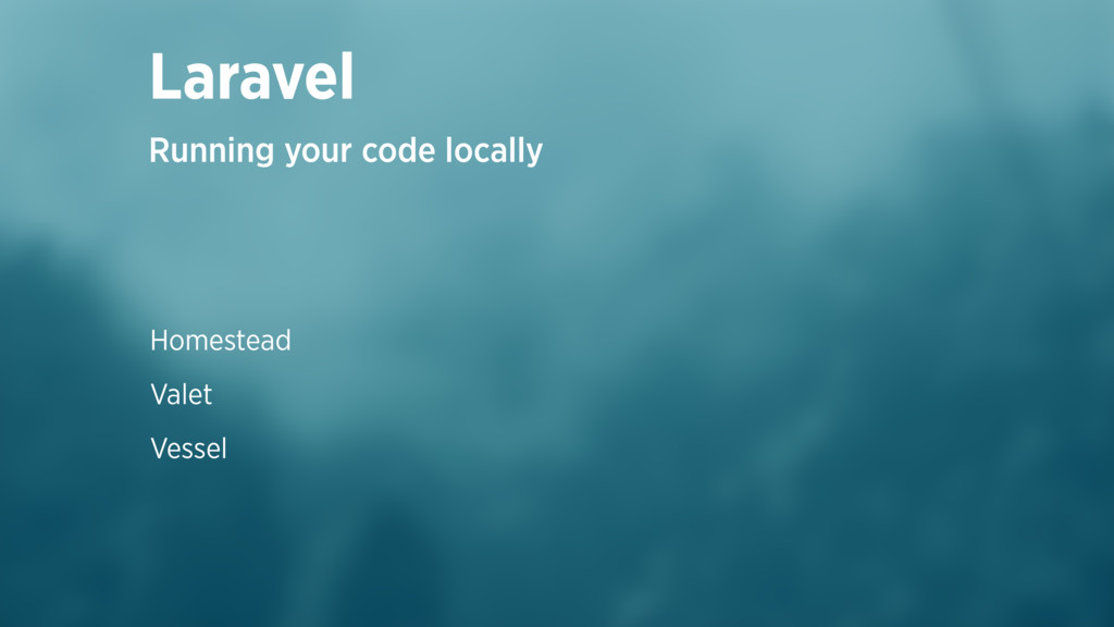 Homestead Valet Vessel Laravel Running your cod...