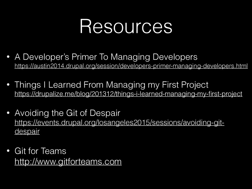 Resources • A Developer's Primer To Managing De...
