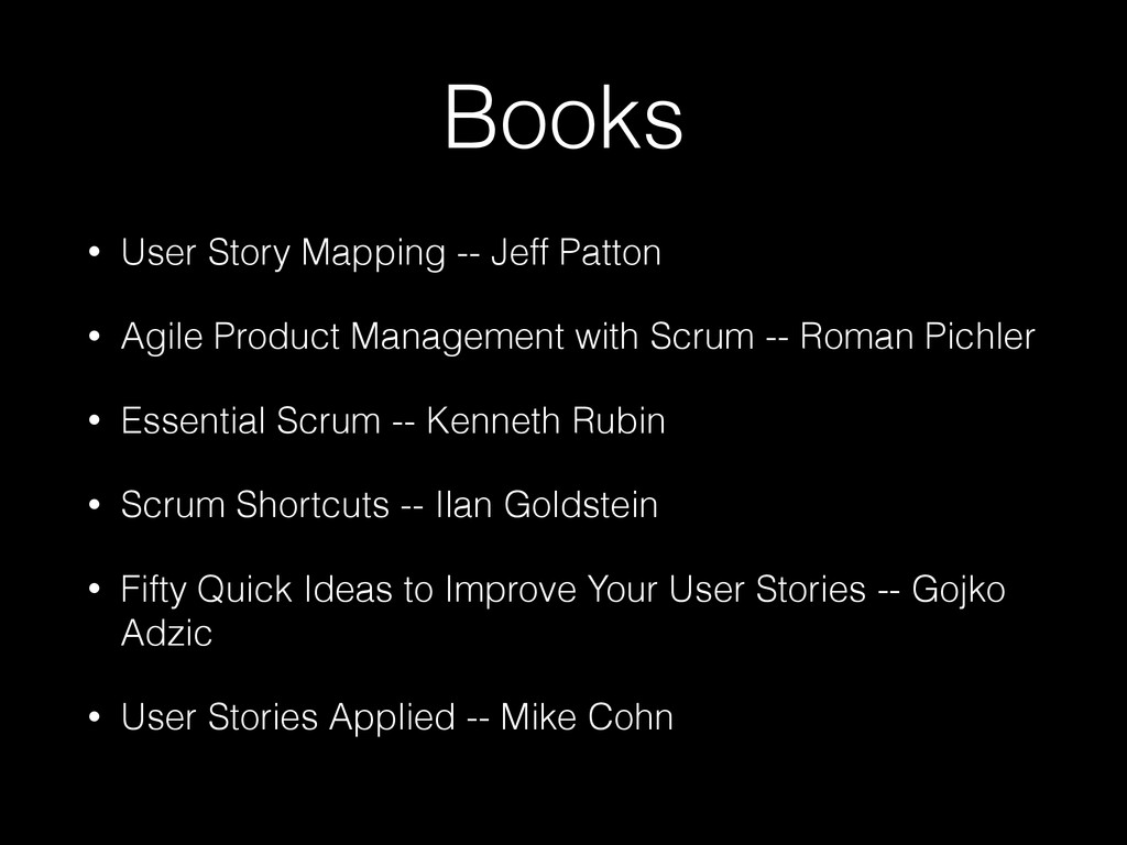 Books • User Story Mapping -- Jeff Patton • Agi...