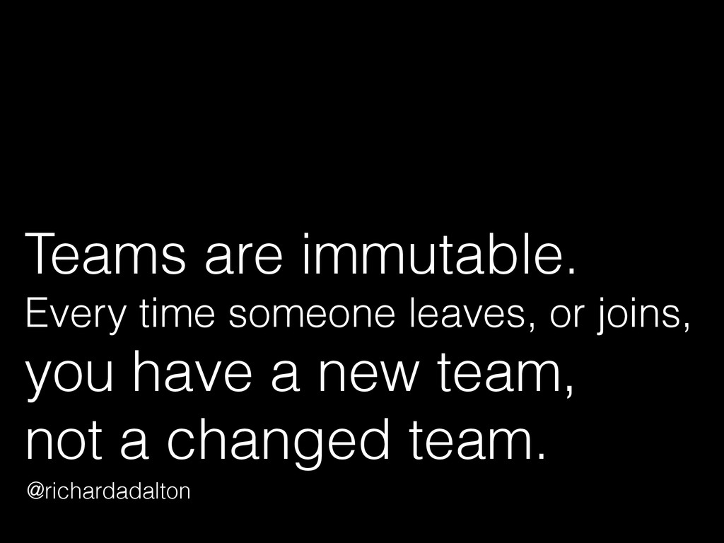 Teams are immutable. 