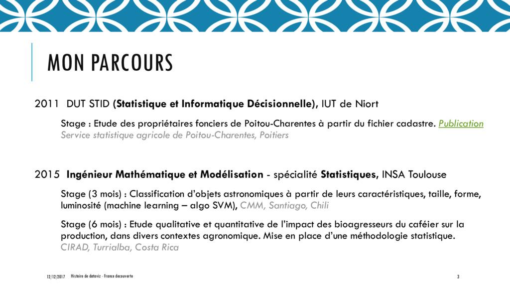 MON PARCOURS 2011 DUT STID (Statistique et Info...