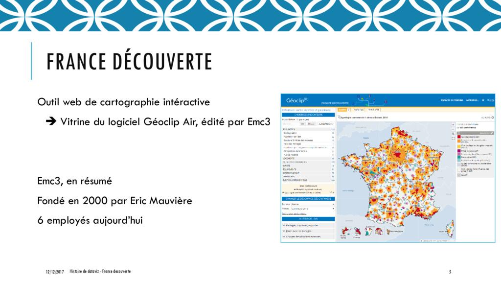 FRANCE DÉCOUVERTE Outil web de cartographie int...