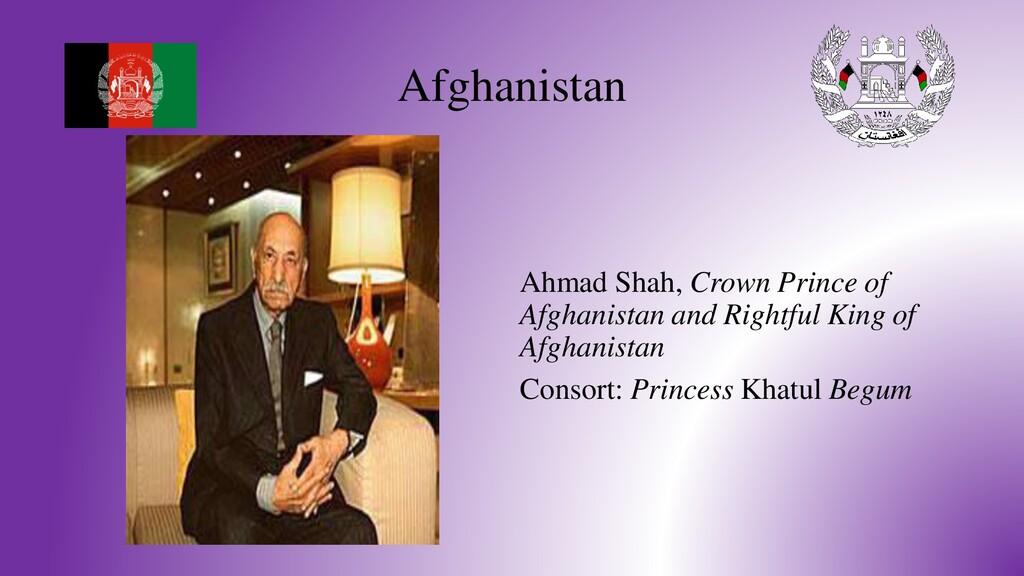 Afghanistan Ahmad Shah, Crown Prince of Afghani...