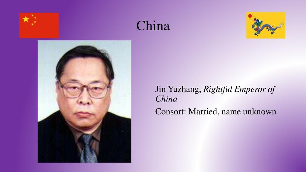 China Jin Yuzhang, Rightful Emperor of China Co...