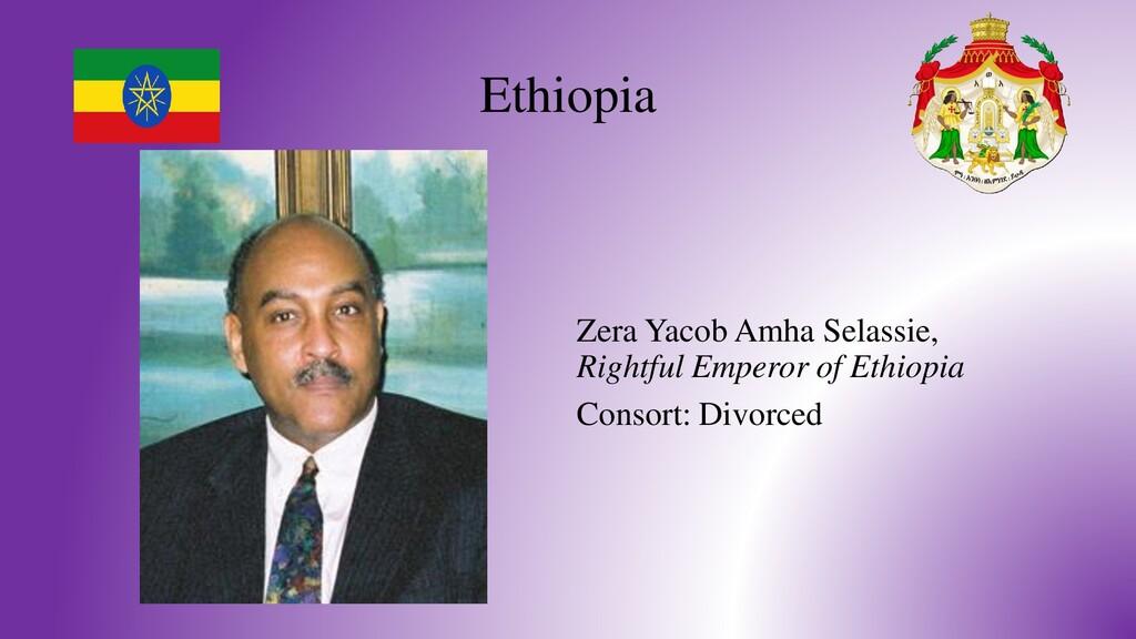 Ethiopia Zera Yacob Amha Selassie, Rightful Emp...