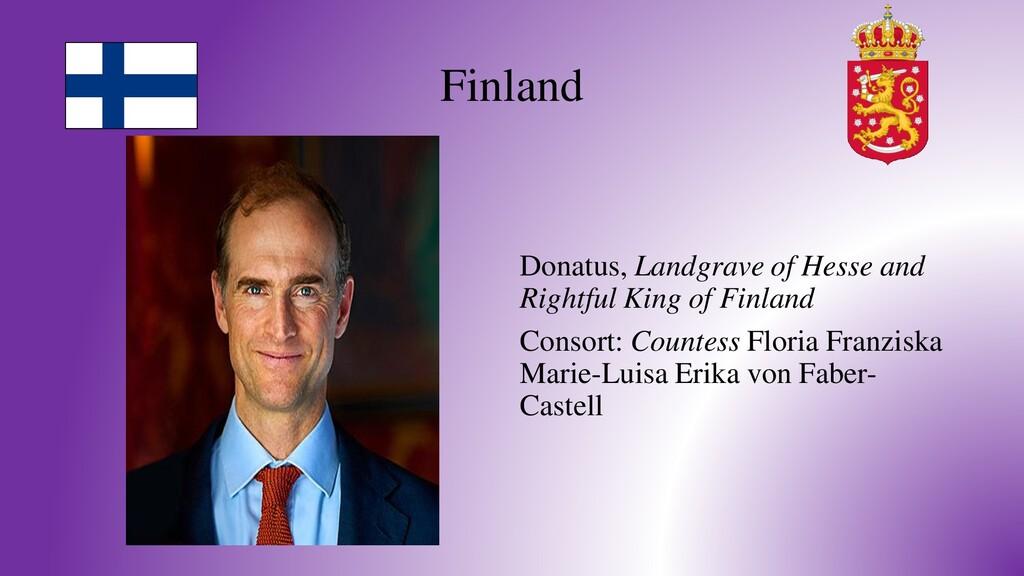Finland Donatus, Landgrave of Hesse and Rightfu...