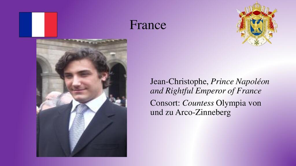 France Jean-Christophe, Prince Napoléon and Rig...