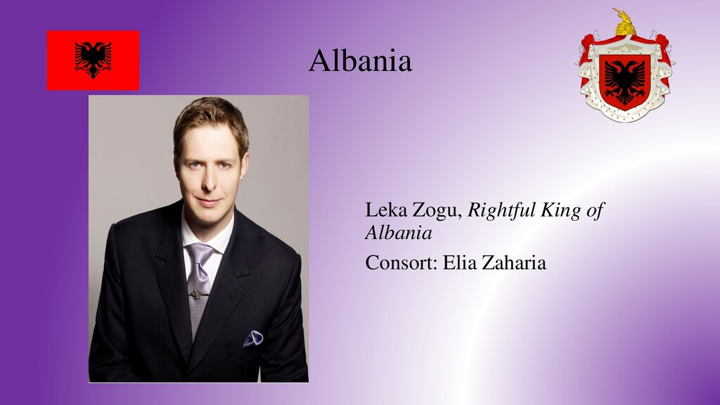 Albania Leka Zogu, Rightful King of Albania Con...