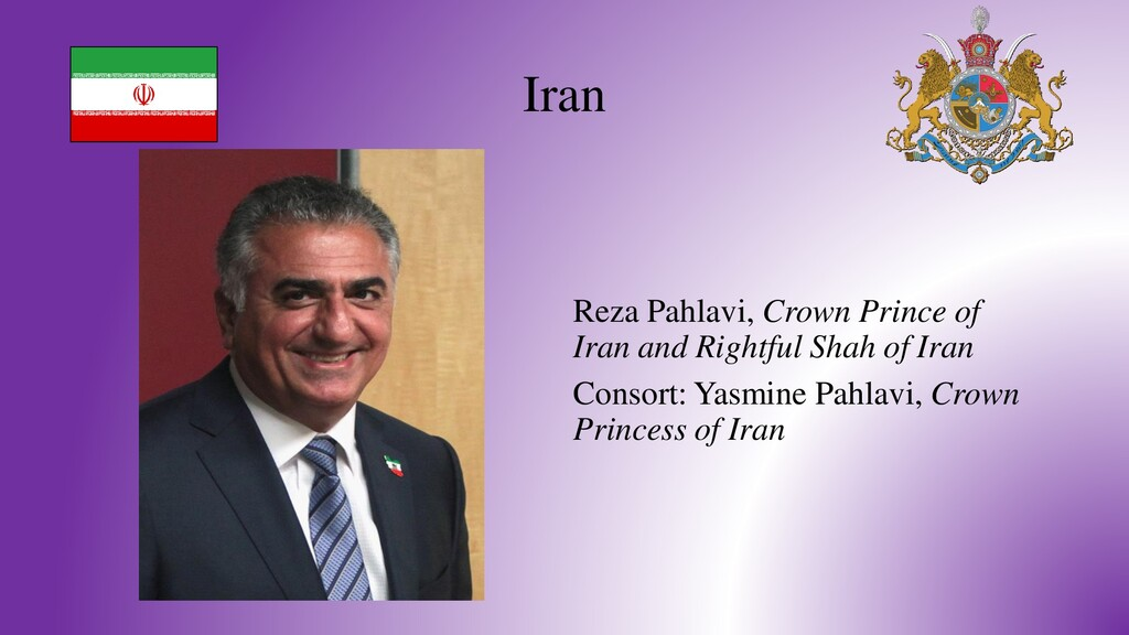 Iran Reza Pahlavi, Crown Prince of Iran and Rig...