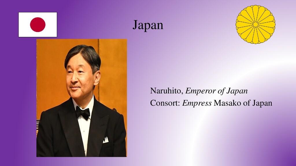 Japan Naruhito, Emperor of Japan Consort: Empre...