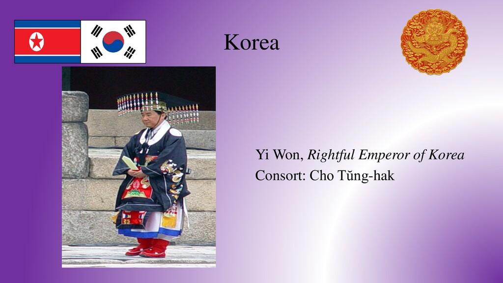 Korea Yi Won, Rightful Emperor of Korea Consort...