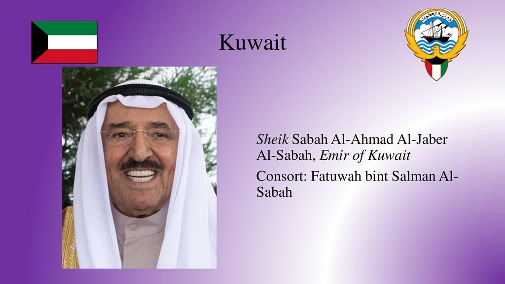 Kuwait Sheik Sabah Al-Ahmad Al-Jaber Al-Sabah, ...