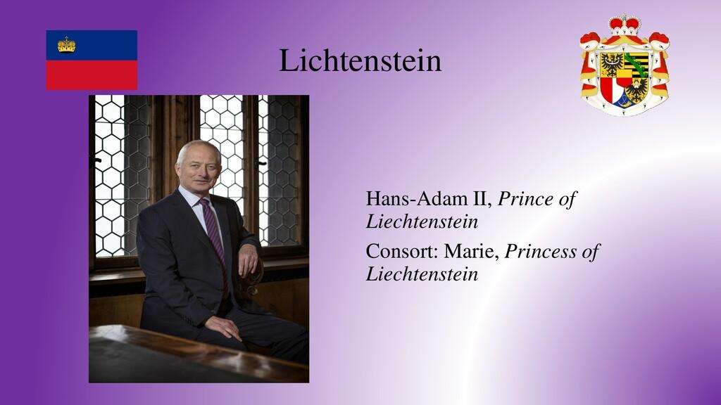 Lichtenstein Hans-Adam II, Prince of Liechtenst...