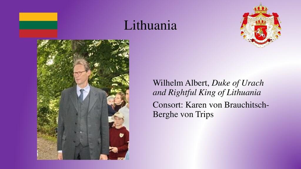 Lithuania Wilhelm Albert, Duke of Urach and Rig...