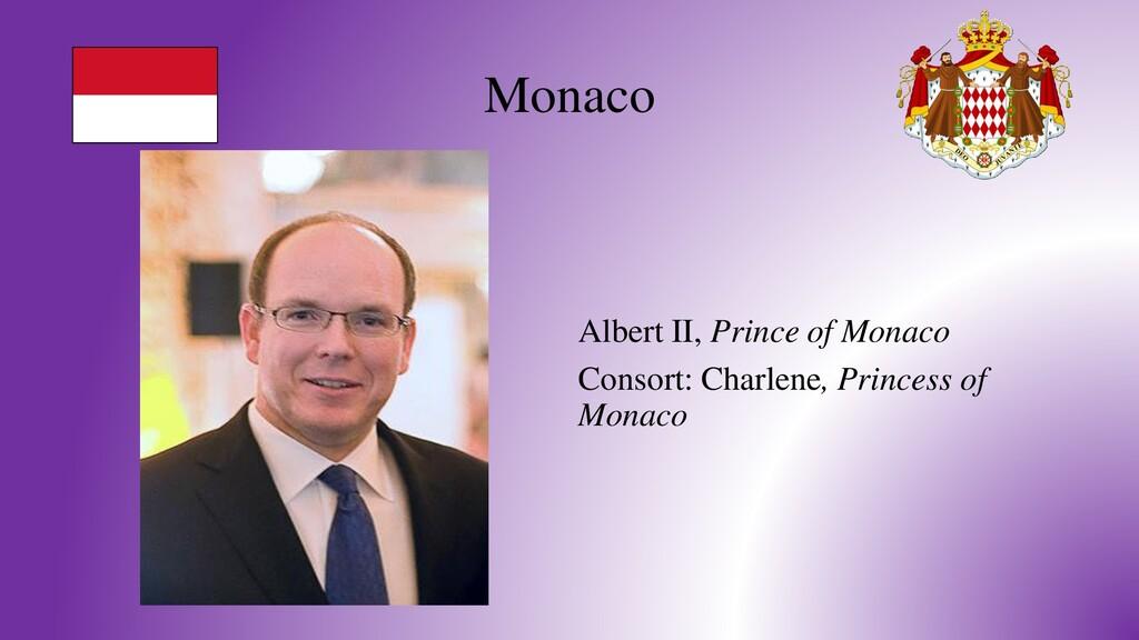 Monaco Albert II, Prince of Monaco Consort: Cha...