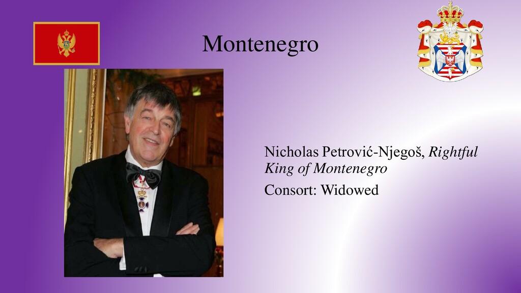 Montenegro Nicholas Petrović-Njegoš, Rightful K...