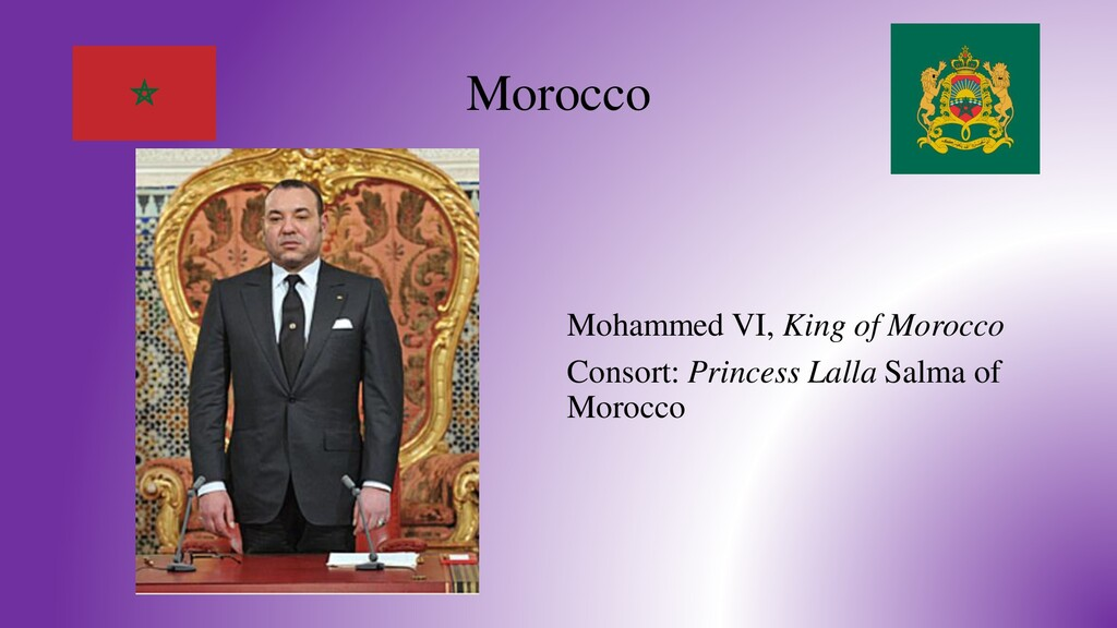 Morocco Mohammed VI, King of Morocco Consort: P...