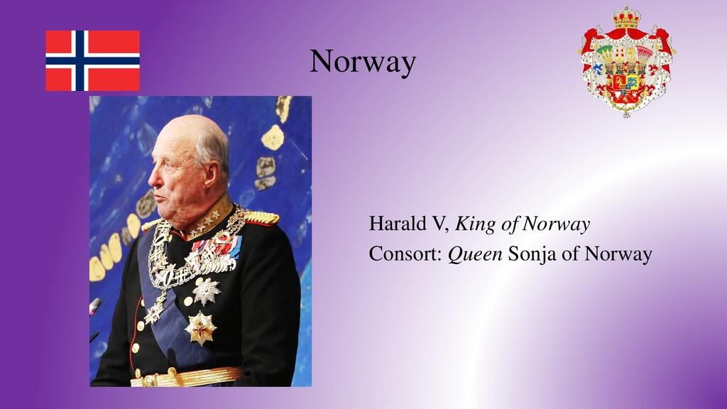 Norway Harald V, King of Norway Consort: Queen ...