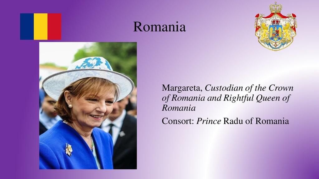 Romania Margareta, Custodian of the Crown of Ro...