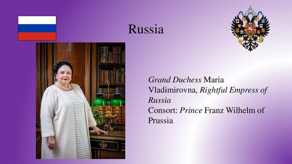 Russia Grand Duchess Maria Vladimirovna, Rightf...