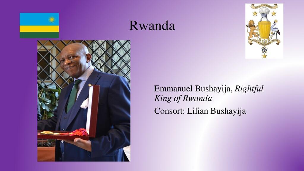 Rwanda Emmanuel Bushayija, Rightful King of Rwa...