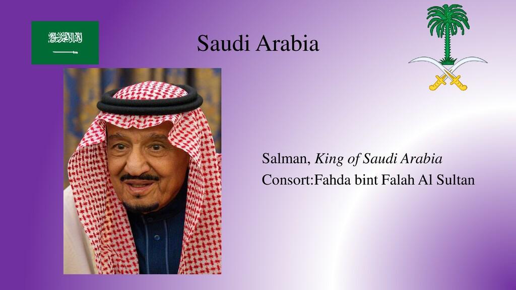 Saudi Arabia Salman, King of Saudi Arabia Conso...