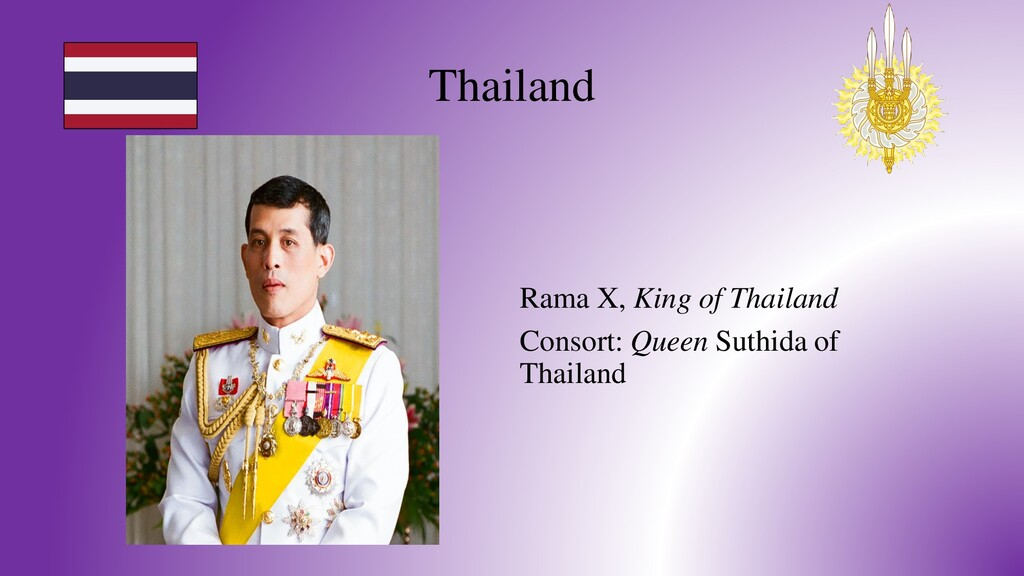 Thailand Rama X, King of Thailand Consort: Quee...