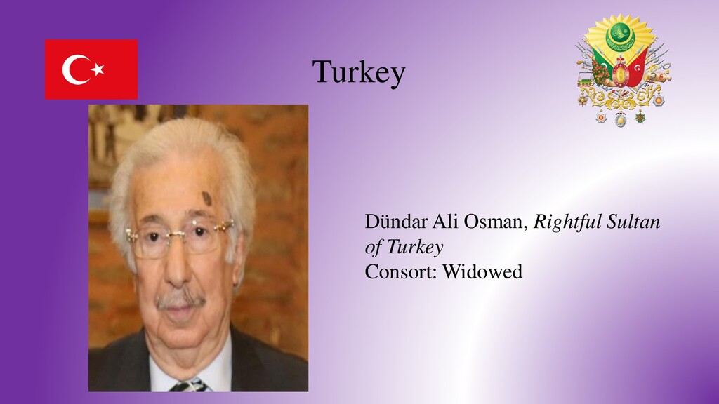 Turkey Dündar Ali Osman, Rightful Sultan of Tur...