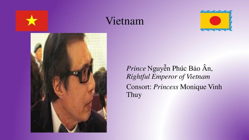 Vietnam Prince Nguyễn Phúc Bảo Ân, Rightful Emp...