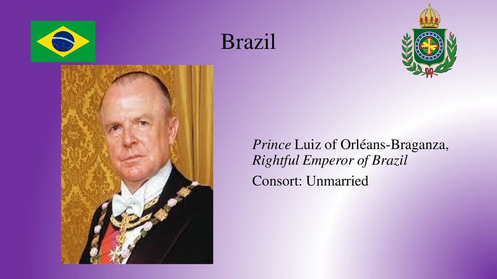Brazil Prince Luiz of Orléans-Braganza, Rightfu...