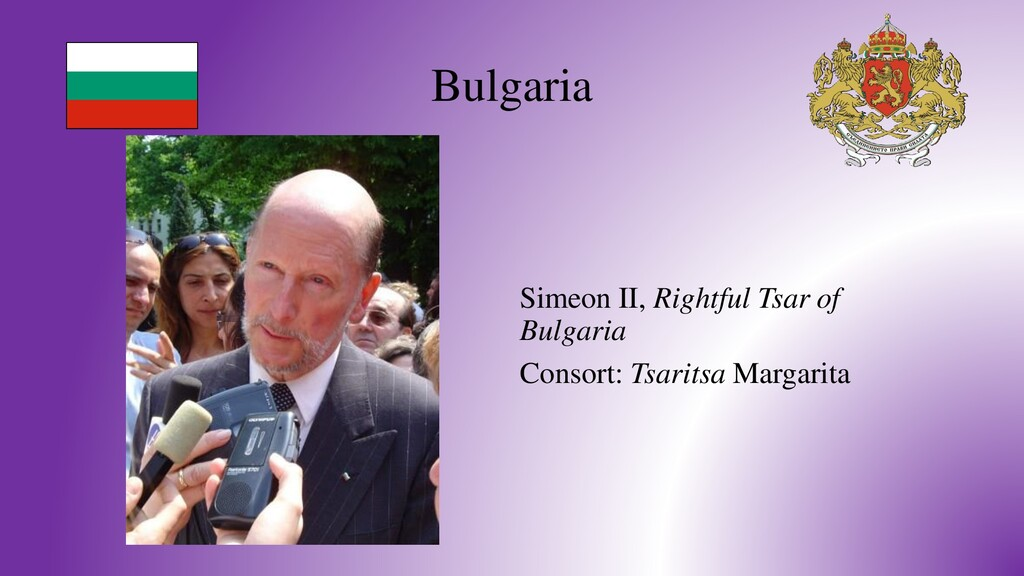 Bulgaria Simeon II, Rightful Tsar of Bulgaria C...