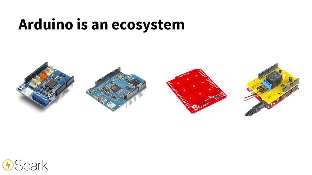Arduino is an ecosystem
