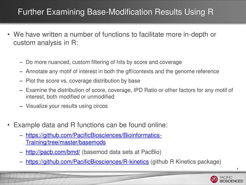 Further Examining Base-Modification Results Usi...