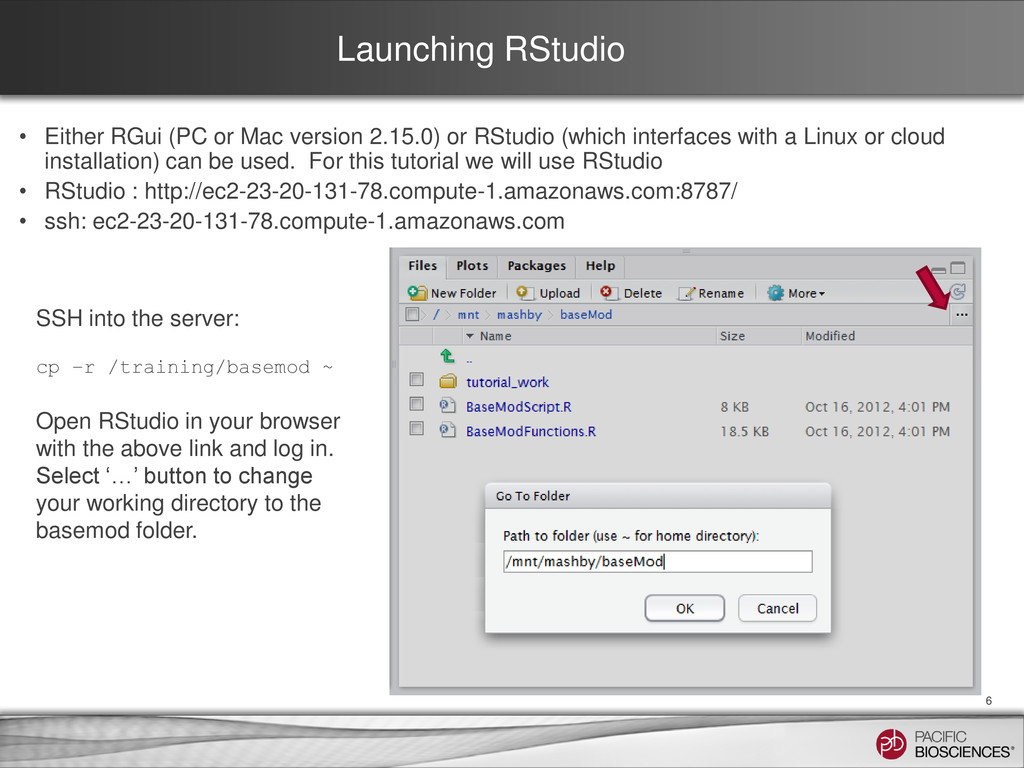 Launching RStudio • Either RGui (PC or Mac vers...