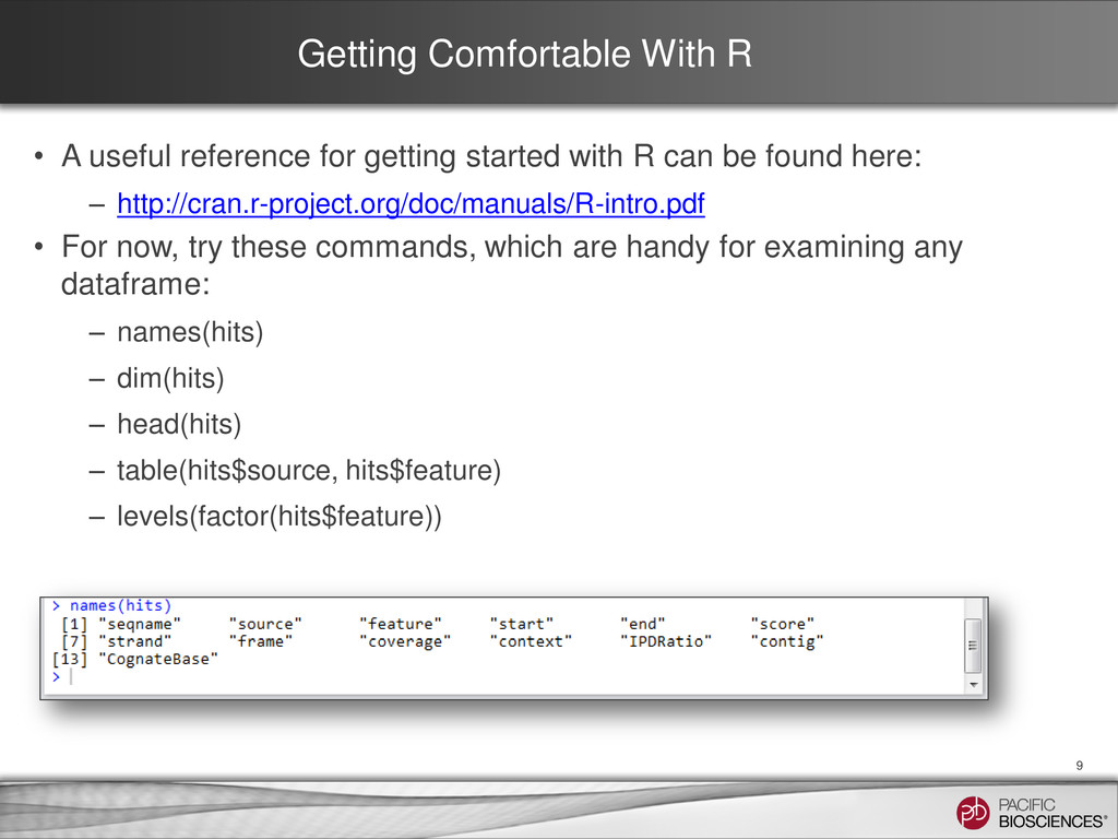 Getting Comfortable With R • A useful reference...