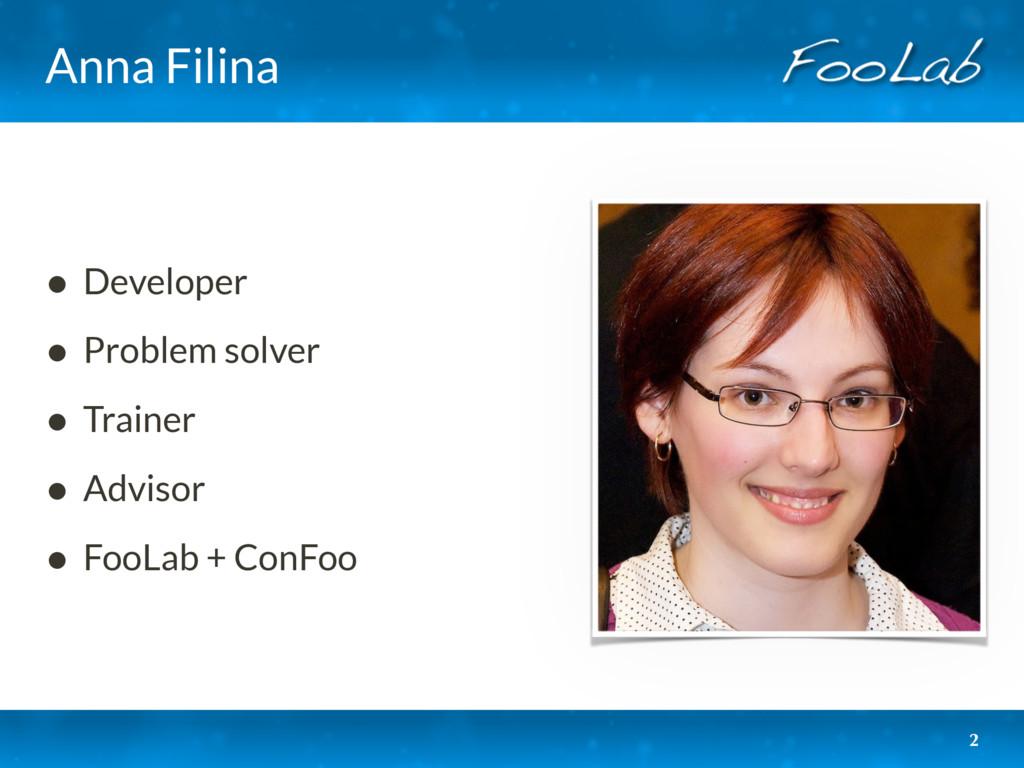 Anna Filina • Developer • Problem solver • Trai...