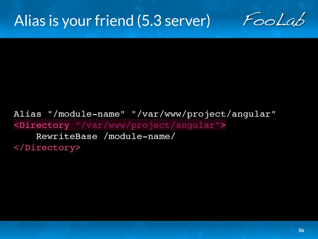 "Alias is your friend (5.3 server) Alias ""/modul..."