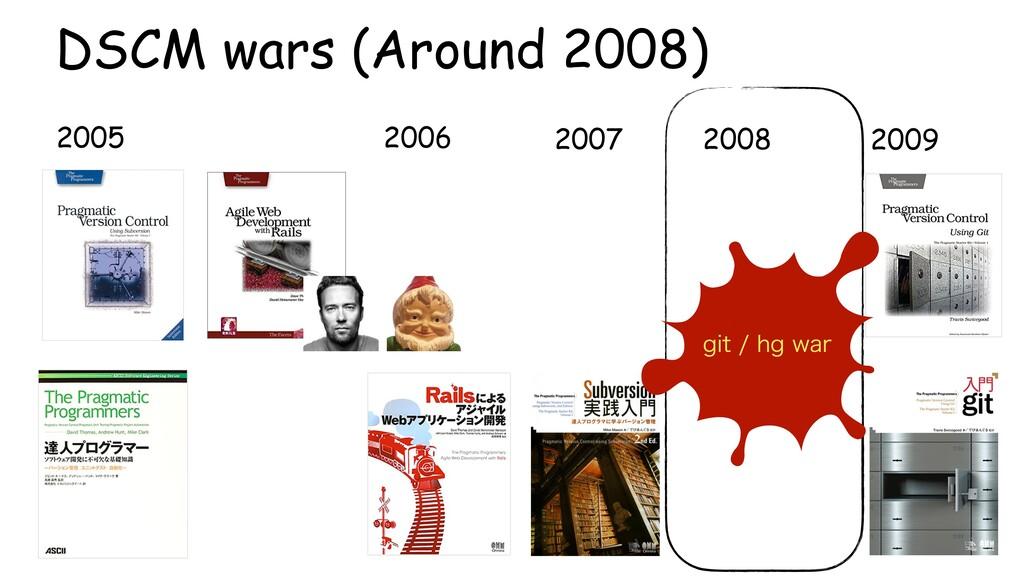 2005 2006 2007 2009 2008 DSCM wars (Around 2008...