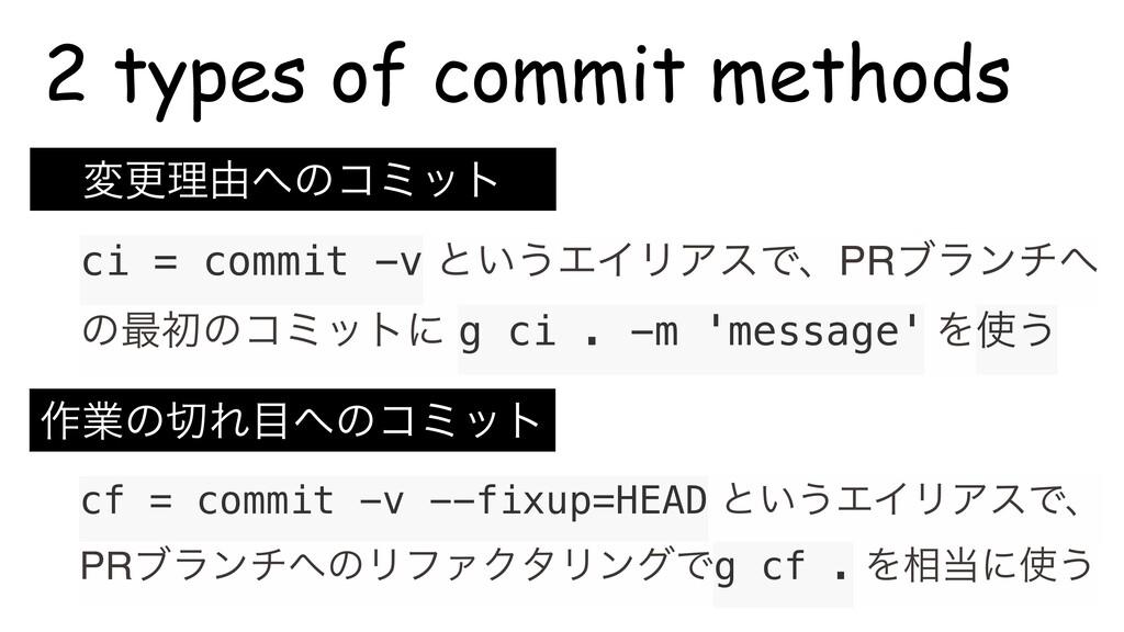 ci = commit -v ͱ͍͏ΤΠϦΞεͰɺPRϒϥϯν ͷ࠷ॳͷίϛοτʹ g ci...