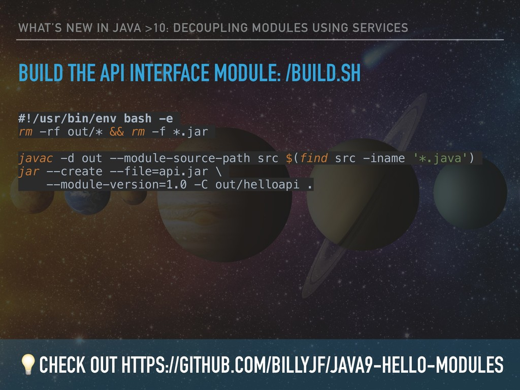 WHAT'S NEW IN JAVA >10: DECOUPLING MODULES USIN...