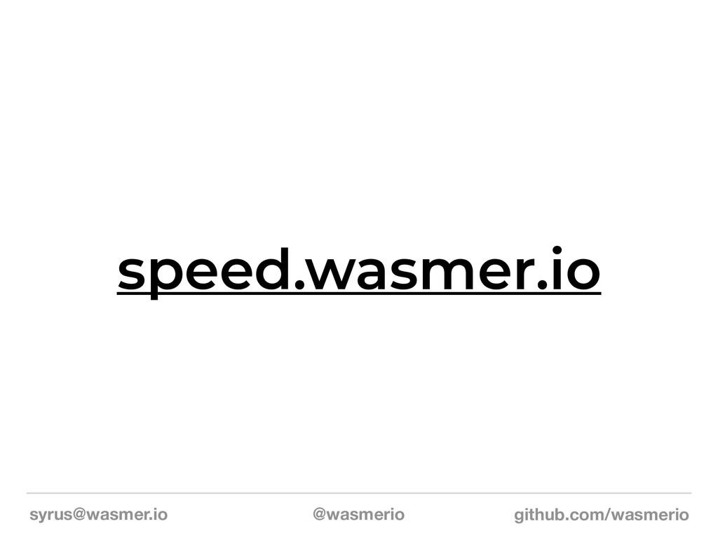 syrus@wasmer.io @wasmerio github.com/wasmerio s...